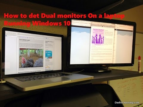 How To Setup Dual Monitors On a Laptop(Windows 10)