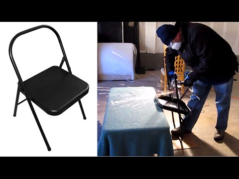 Folding Metal Yoga Chair Small Dining Room Chairs With Arms Make Your Own Backless Iyengar In 30 Minutes Youtube
