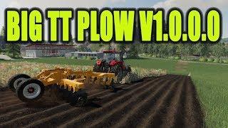 FS 19 Mod Vorstellung Farming Simulator : BIG TT PLOW V1 0 0