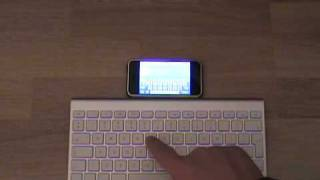 apple wireless keyboard used with an iphone 3g