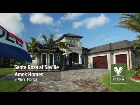 Tour the Santa Rosa model by Amek Homes in Seville, Viera
