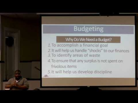 08.07.16 Sunday School: Personal Finance from a Biblical Perspective Part 5 — Budgeting
