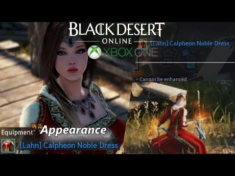 Black Desert Xbox One - (Calpheon Noble Dress) Crafted Clothes  Lahn/Appearance/Look