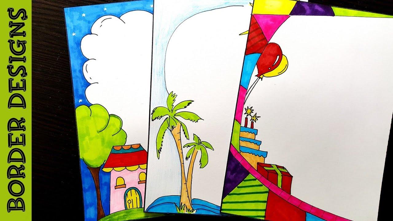 Scenery   Border designs on paper   border designs ...