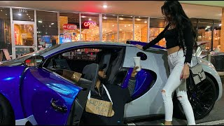 HOMELESS in a BUGATTI Gold Digger Prank Part 2 (Social Experiment)