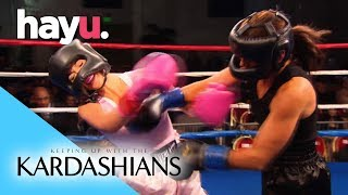 Kim Beaten Up In Boxing Match | Keeping Up With The Kardashians