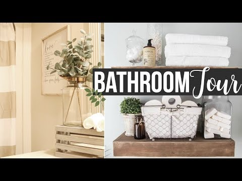 DECORATE WITH ME 2017 | GUEST BATHROOM TOUR & DECORATING IDEAS!! | Page Danielle