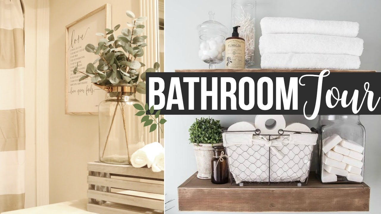 Decorate with me 2017 guest bathroom tour decorating - How to decorate a guest bathroom ...