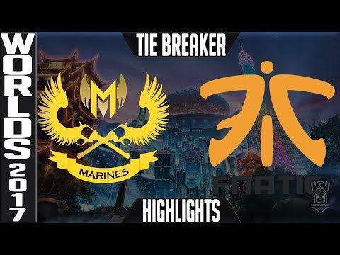 GAM vs FNC Highlights TIE BREAKER - 2017 World Championship W2 Gigabyte Marines vs Fnatic