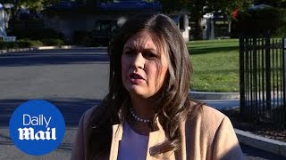 Sarah Sanders says president is 'not responsible' for packages