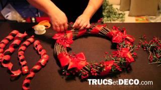 comment décorer une couronne de noel