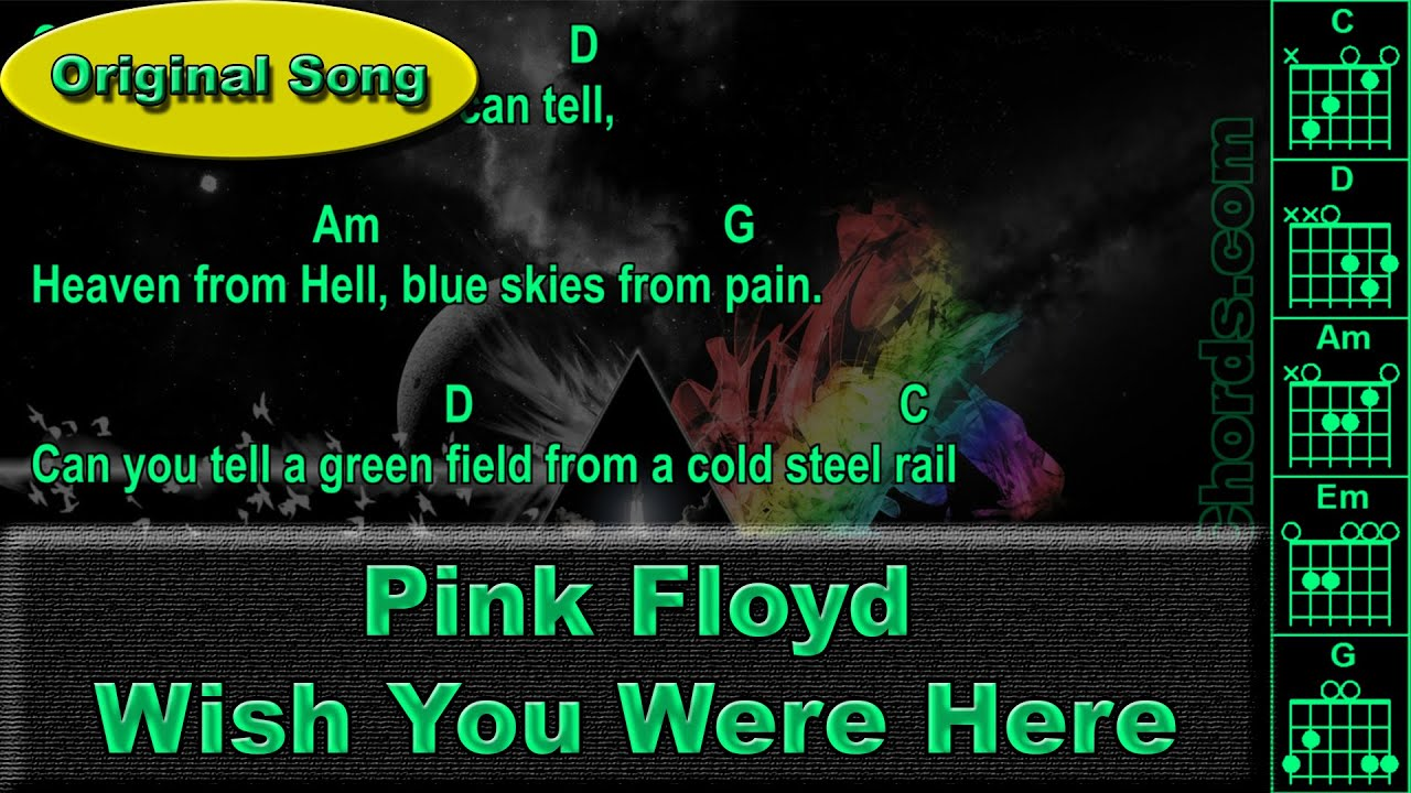 Pink Floyd Wish You Were Here Original Guitar Chords 0001 A1
