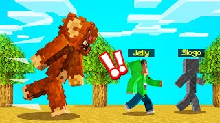 WE FOUND BIGFOOT In MINECRAFT! (Scary)