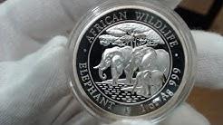 2013 Somalian Elephant Proof High Relief (1 oz)