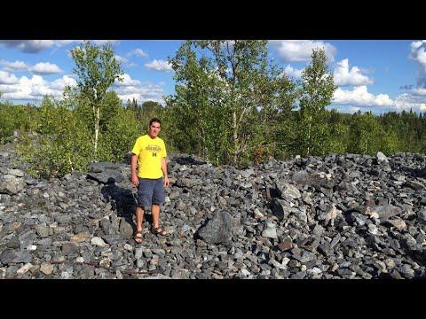 Specular Hematite Mine Tailings In Champion, Michigan
