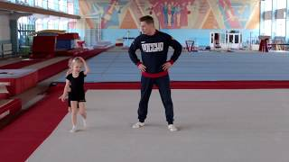 Спортивная гимнастика.  Разминка для самых маленьких.