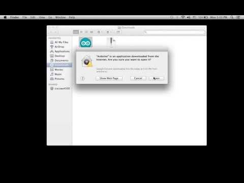 How to install and setup Arduino on MAC OS X