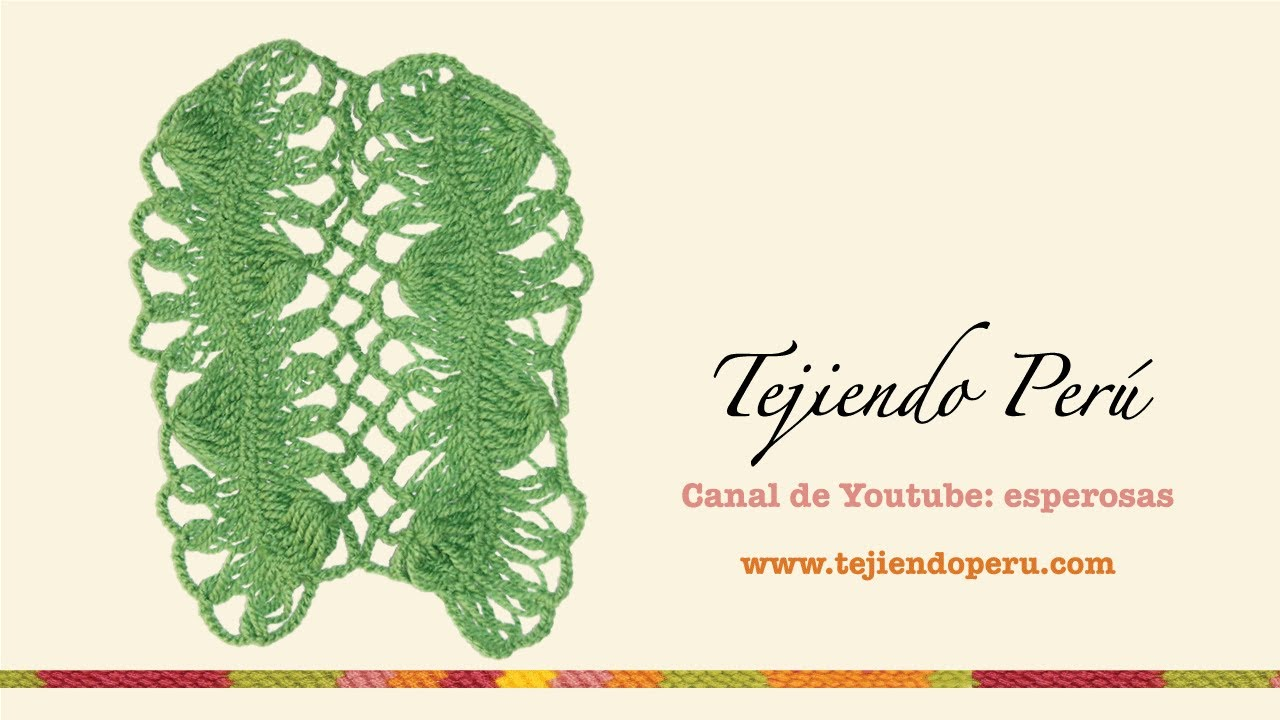 Horquilla: unión de tiras con rombos a crochet - YouTube