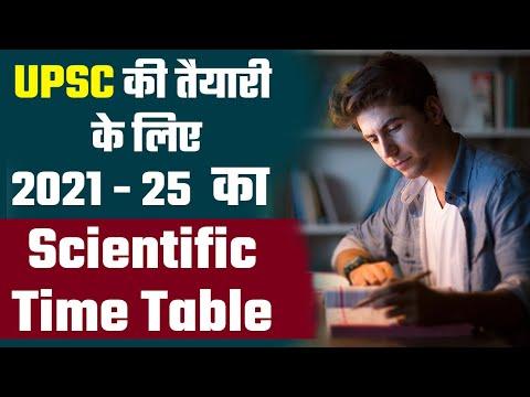 UPSC की तैयारी के लिए 2025 तक का Scientific Time Table || UPSC 2021 || Prabhat Exam