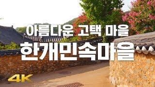 ? 【4K】 아름다운 고택 마을! 한개민속마을