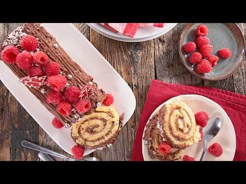 recette-:-bûche-aux-framboises,-chocolat-et-mascarpone