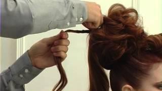Видео урок вечерняя прическа на очень длинные волосы.  Video tutorial for the hairdresser