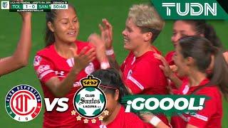 ¡Goooll Excelente cabezazo de Silvia | Toluca 1 - 0 Santos | Liga MX Femenil - J 19 - AP 2019 | TUDN