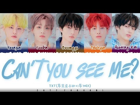 TXT - &39;CAN&39;T YOU SEE ME?&39;  Color CodedHanRomEng