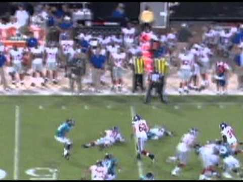Joe Martinek Highlights - Giants @ Jaguars (Aug 10, 2012)