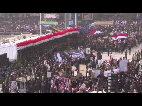 Thousands in Syria's Aleppo mark one year since 'victory'