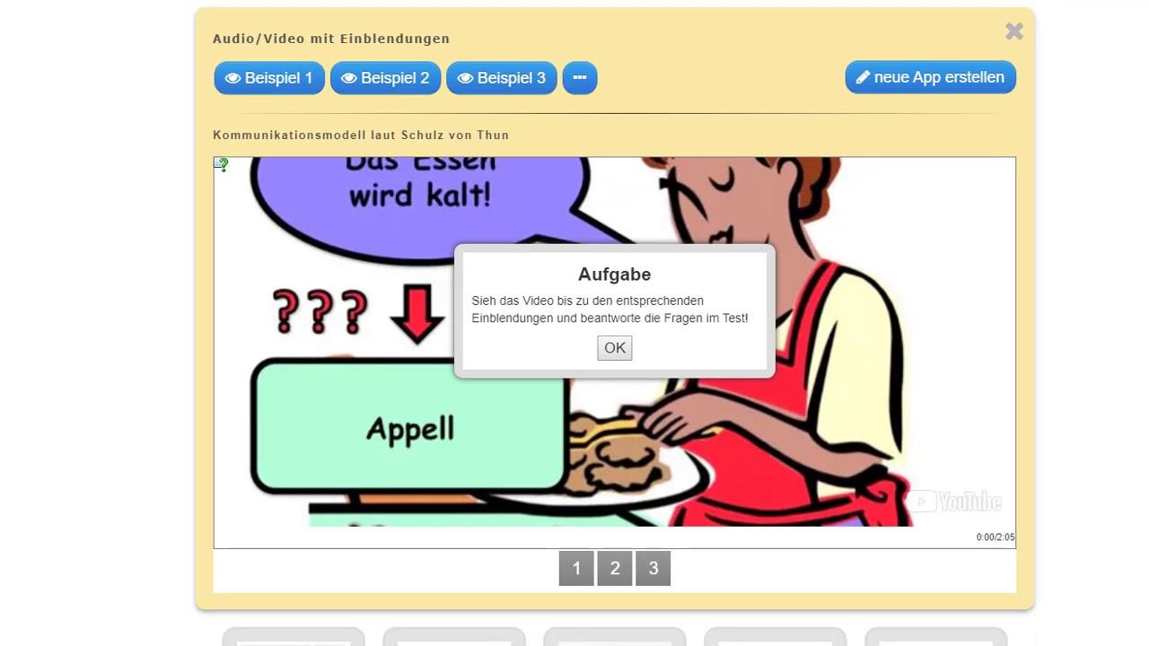 12  Audio / Video mit Einblendungen - bei LearningApps - eigene Apps  erstellen
