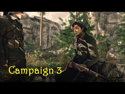Sniper Elite 4 - Campaign 3 - Regilino Viaduct - Wreck the Railway Gun