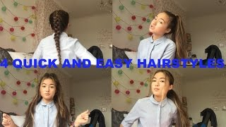 One of Mi Ying's most viewed videos: 4 QUICK and EASY hairstyles