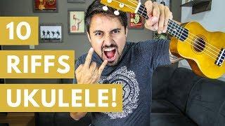 10 RIFFS DE ROCK NO UKULELE! - rock and roll music ukulele