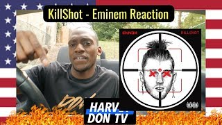 KILLSHOT - Eminem MGK Diss! Reaction Harvey Don TV