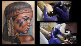 Tattoo Artist Evan Olin of Powerline Tattoo in Cranston RI