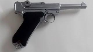 Pistola Airsoft WE Luger P08 - Silver - (4 polegadas)