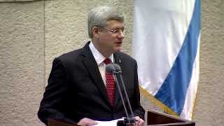 Repeat youtube video PM Harper's remarks in the Israeli Knesset