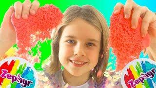 Кинетический пластилин Zephyr! Уроки лепки и мастерства от Ксюши и Алисы! Видео для детей!