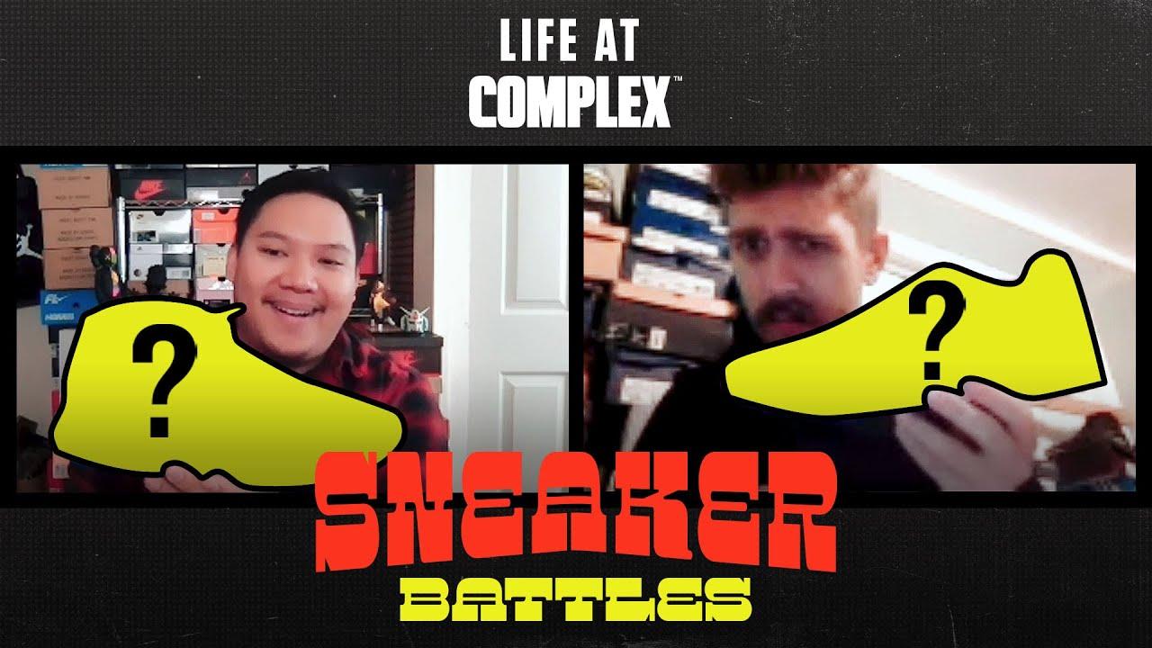 Sneaker Battle From Home - Brendan Dunne vs Justin | #LIFEATCOMPLEX