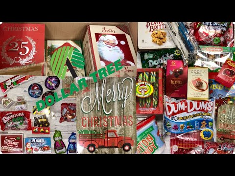 NEW AT DOLLAR TREE  Candy has arrived! Dollar Store Food Christmas 2018 Shop with me