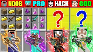 Minecraft NOOB vs PRO vs HACKER vs GOD TRIPLE BROAD SWORD CRAFTING CHALLENGE in Minecraft Animation