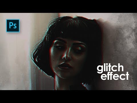 How To Edit A Portrait  Glitch Dramatic Color Effect In Photoshop - Photoshop Tutorials