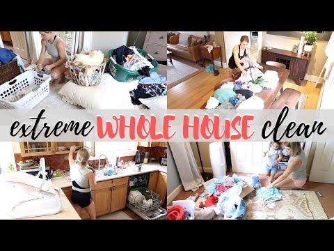 NEW! 2019 EXTREME WHOLE HOUSE CLEAN | MESSY HOUSE TRANSFORMATION | ULTIMATE CLEANING MOTIVATION