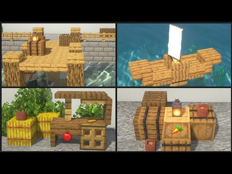 Minecraft: 25+ Medieval Harbor Build Hacks and Ideas!