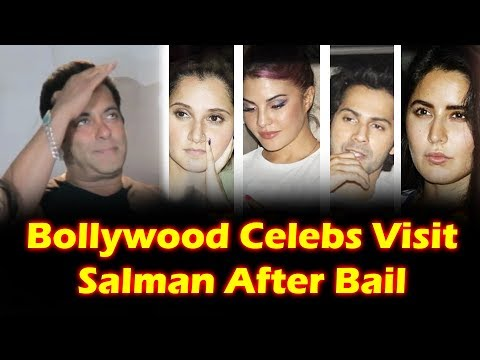 Bollywood Celebrity Join SALMAN in his Celebration Of Getting Bail