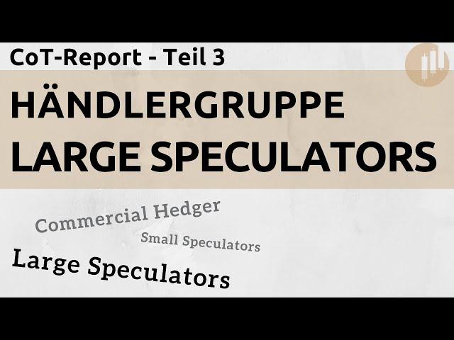 CoT-Report: Die Large Speculators