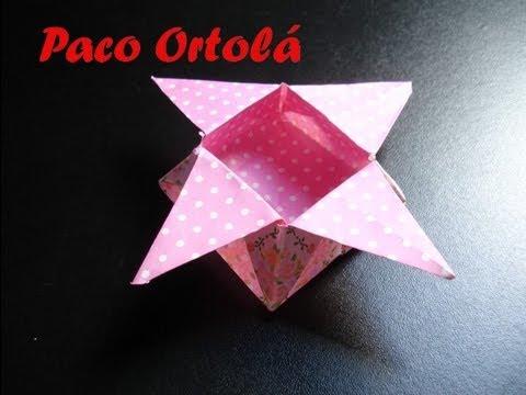 Origami Ou Dobradura Caixa Estrela Youtube