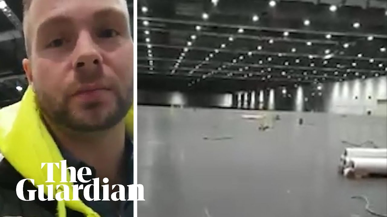 Worker posts video from ExCeL centre being converted into coronavirus hospital