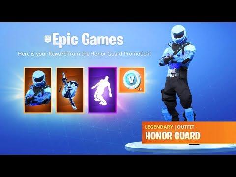 Fortnite Free Honor Guard Skin Code | Fortnite 2019 Skins